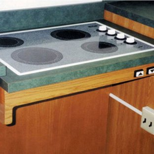 Approach adjustable Cooktop Counter lift